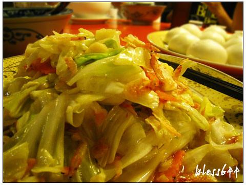 古街蚌麵-櫻花蝦高麗菜