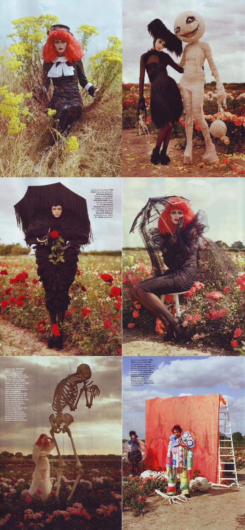 Spokes 'n' Daggers: Tim Burton for Harper's Bazaar