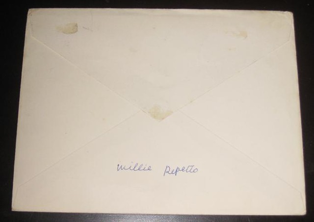 Signature of chief Willie Repetto on reverse by Kingkongphoto amp celebrity photos