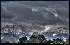 Pikes Peak Hiding in Clouds