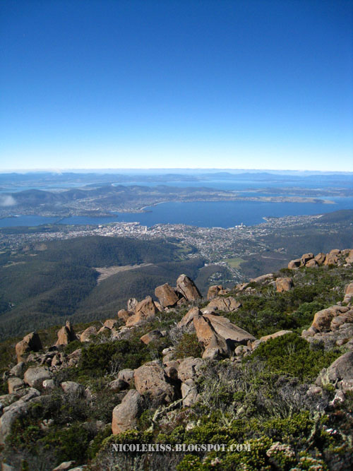 greater hobart vertical shot