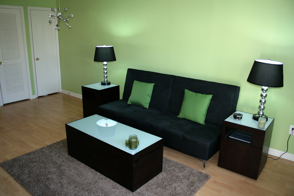 My New Green Living room!