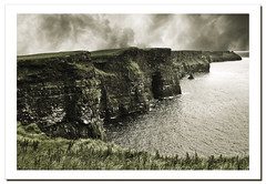 The Cliffs of Moher (4). Ireland.- (ancama_99(toni)) Tags: ocean county trip travel blue ireland light sea vacation sky irish cliff paisajes naturaleza holiday seascape color beach nature water rock clouds photoshop landscape geotagged photography coast mar photo interestingness interesting agua nikon rocks europa europe clare waves photos doolin photographic irland eire cliffs atlantic explore scenary layers cliffsofmoher paysage olas atlanticocean 2009 moher attraction atlntico irlanda irlande oceano 1000views atlantico countyclare ocano d60 acantilados cliffofmoher supershot 50faves 25faves ancama99 platinumheartaward interesantsimo 7naturalwonders saariysqualitypictures new7naturalwonders
