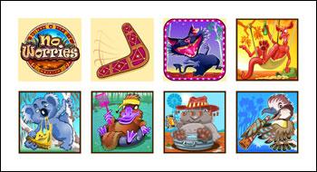 free No Worries slot game symbols