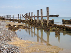 I wish I was there. (chris37111) Tags: reflection beach norfolk olympus runton 1030sw chris37111