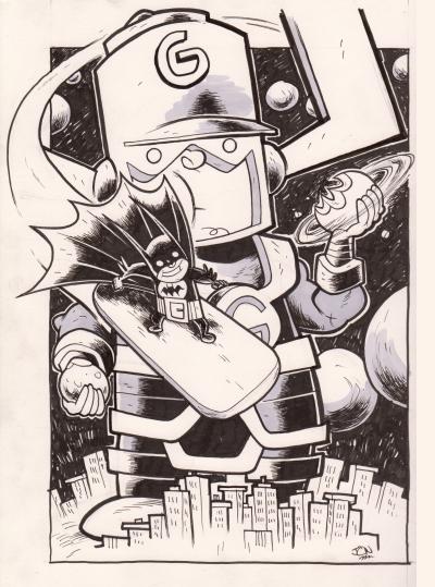 Bat-Man Meets Galactus