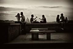 Palcoscenico romano - Stage set (Stefano Mazzoni) Tags: wedding party vacation blackandwhite italy rome love sepia canon nikon afternoon friendship vaticano explore sanpietro frontpage amicizia amore biancoenero aventino giardinodegliaranci seppia stageset palcoscenico stefanomazzoni