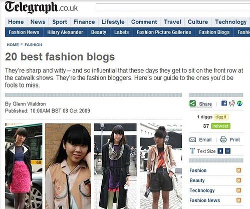 Telegraph 20 best fashion blogs