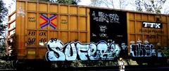 Sufer (ca) - Alto (mightyquinninwky) Tags: ca railroad train logo graffiti la moving crossing tag graf stock tracks indiana railway motto tags tagged southernindiana urbanart railcar rails spraypaint boxcar graff pt graphiti et alto freight rolling stamped onthemove sufer put ucr railroadcrossing inmotion buffed lowe trainart ttx paintedtrain railart gome jcr warninglight spraypaintart ohiorivervalley thela bsk movingart teff fbox ta