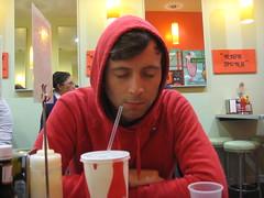never again (bittermelon) Tags: sf friends dinner ryan mission milkshake 2009 decadent ryry nicebuns texastoastburger urbunburger