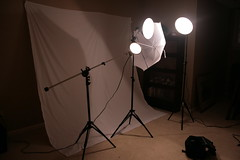 LOOK AT MY NEW TOYS!!! (Kelly Lovell) Tags: umbrella lights boom setup camerabag smithvictor