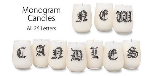Monogram Candles A-Z