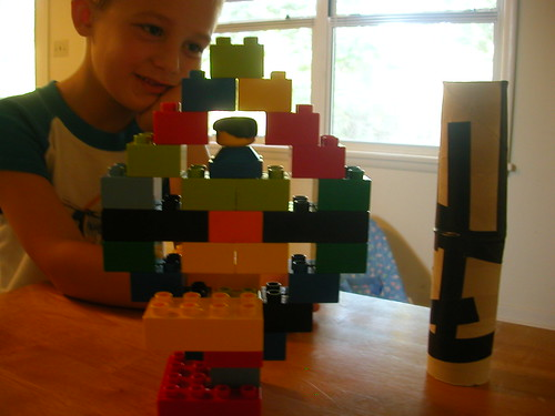 Clark and legos