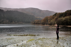 Worship (Rob Outram) Tags: trees sky mountain lake reflection water girl forest landscape scotland europe iona loch trossachs ard foldrmonitr canonefs1855mmf3556is roboutram