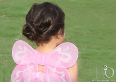 19/365 ,,, (H) Tags: pink 3 girl butterfly wings dress little girly wing h2o kidz  i         masha3el  b6erfly i3mynephewsandnieces