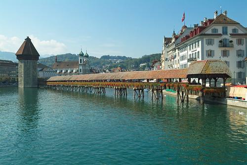 Importantes Ríos De Suiza: Maravillas Del Mundo: Puente Kapellbrücke (Suiza