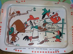 TV Tray QD Auggie at the corral (vincentvangopher) Tags: daddy hound pixie animation huck auggie dixie doggie mcgraw yogibear huckleberry tvtray quickdraw snooper hannabarbera blabber booboobear mrjinx yakkydoodle cartooncharactercollection
