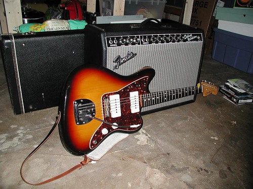 quickdrawraw Fender Jazzmaster and Amp