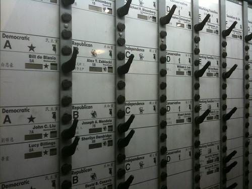Mechanical voting machine