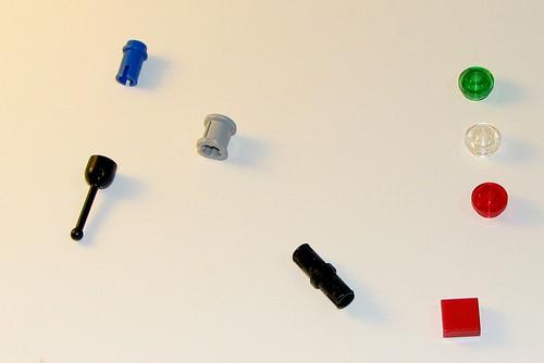 LEGO 8060 Atlantis - Typhoon Turbo Sub - Extra Pieces