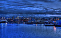 Victoria B.C Skyline (Brandon Godfrey) Tags: world pictures city blue urban canada reflection water skyline night clouds buildings reflections landscape boats photography lights sussex harbor twilight scenery downtown cityscape bc photos harbour pics earth britishcolumbia sony capital parliament scene victoria canadian vancouverisland hour western pacificnorthwest northamerica ripples dslr legislature hdr vicwest viewtowers a300 johnsonstreetbridge theempresshotel robertshouse orchardhouse cibcbuilding pointhopeshipyard staplesbuilding