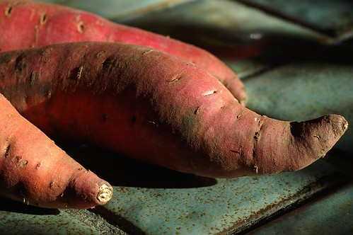 Three sweet potatoes by Eve Fox, Garden of Eating blog