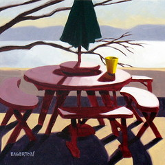 """My Picnick Table"" (Leigh-Anne Eagerton, painting) Tags: life portrait stilllife food house dice kitchen cookies birds fruit buildings garden painting insect skull still doll candy contemporary paintings martini drinks alcohol oil eggs movies apples firehouse recent oilpainting"