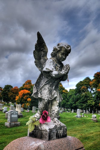 Angel at St. Agnes Cemetery.  Photo by Chuck Miller.