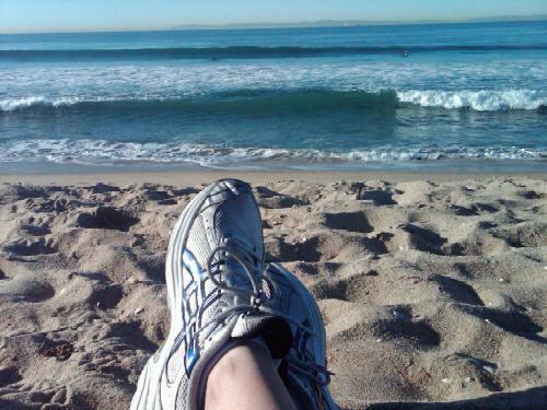 Relaxing at Bolsa Chica Beach in Huntington Beach CA