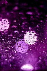 Purple rain (flavita.valsani) Tags: white black water glass rain reflections lights purple bokeh sopaulo drop explore sampa windshield 303 valsani