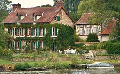 Life on the river (stephencurtin) Tags: summer house france seine river vines distillery normandy thechallengefactory