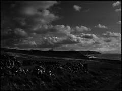 Cloudage (4paw) Tags: sea sky bw mountains clouds coast scotland highlands rocks view stoer assynt cloudage suilvan canisp