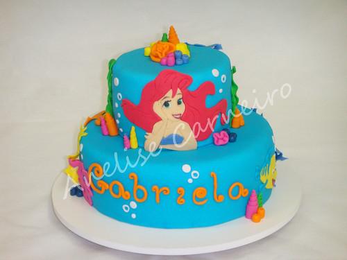 Bolo Ariel - Pequena Sereia