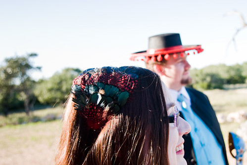 The theme colors were red and teal turquoise Masquerade wedding1