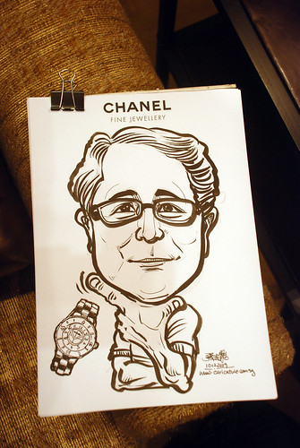 Caricature live sketching for Chanel Day 1 - 6