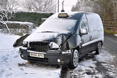 Fender Bender Part 1 (Stuart Axe) Tags: uk winter england white snow cold ice weather mashed frost crash accident crashed taxi citroen snowstorm blizzard essex peugeot winterstorm chelmsford fenderbender eurobus bigfreeze thebigfreeze cabdirect