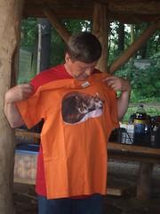 Roman loves his birthday pressy (EuCAN Community Interest Company) Tags: poland 2009 polandtrip eucan milicz baryczvalley