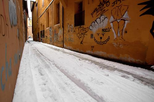Bologna freddo 2010 -11 gradi neve centro storico