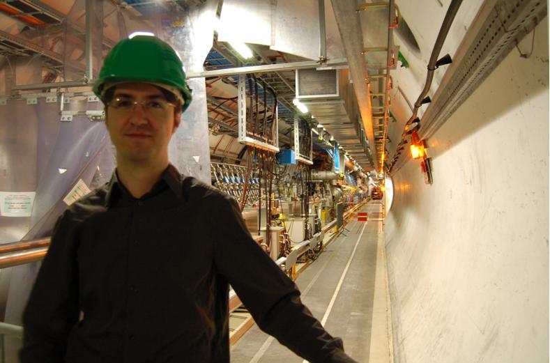 Jorge Sánchez en el CERN