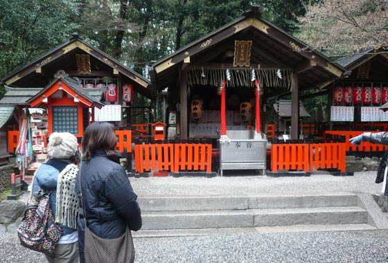 This is Nonomiya-Jinja, many god are enshrined here - one of them being a god of good match and marriage, very fitting!