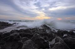 Dancing Waves (ツMaaar) Tags: longexposure sunset bali beach waves slowshutter splash canggu searock img1097 dancingwaves pererenanbeach panaidibali