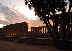 Sundown at Luxor Temple (Gibna Kebira) Tags: sunset sun egypt temples luxor luxortemple 15nov2009