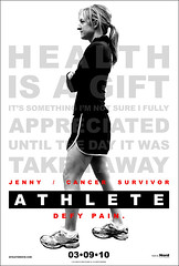 "ATHLETE Movie Poster - ""Jenny"" (ATHLETE Director Dave) Tags: new york city nyc red white black art film sports bike promotion bar work movie advertising poster photography one cycling cyclists design marketing dvd blood key tears cyclist heart graphic blind marathon group cancer documentary bikes running ironman independent age sweat definition posters indie disabled what runners sheet carbon everyday fiber inspirational athlete runner endurance triathlon inspiring defines survivor aero lymphoma motivational triathlete triathletes marathoners motivating hodgkins athletemovie"
