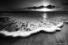Rushing Wave (-yury-) Tags: ocean sea sky blackandwhite bw cloud sun beach water sunrise sydney wave australia rush monavale abigfave