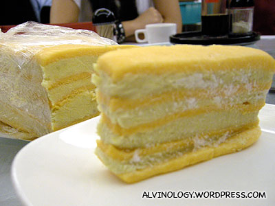 Mao Shan Wang Durian Nian Gao from Peony Jade which we brought along