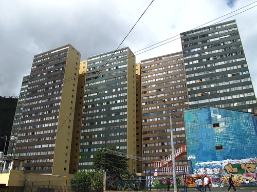 Office towers in Bogota Colombia