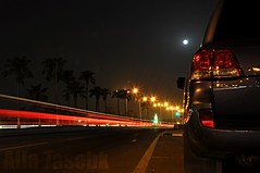 ..      (-7se) Tags: street light moon night speed toyota  alla gxr  mywinners   7asebk