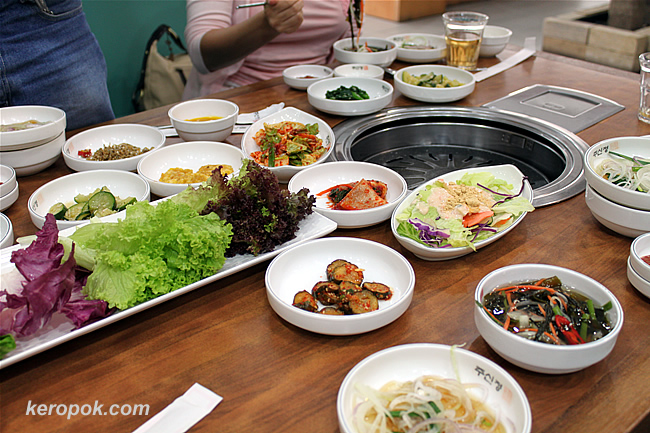 Our table full of only side dishes!