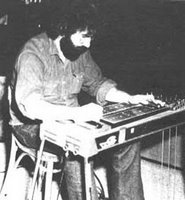 Jerry Garcia on pedal steel with New Riders Of The Purple Sage circa 1971 - Not a great pic and it doesn't get any bigger but there aren't many NRPS photos from this era.