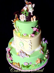 Flower Fairies Cake (JacqueBenson) Tags: flowers fairies faeries fondant flowerfairies enchantedgarden idontwanttogrowup sugarpaste cakesdusoleil sugarwonderscakeshow